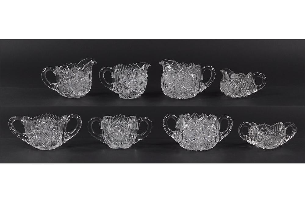 Four Libbey and Elmira American Brilliant Cut Glass
