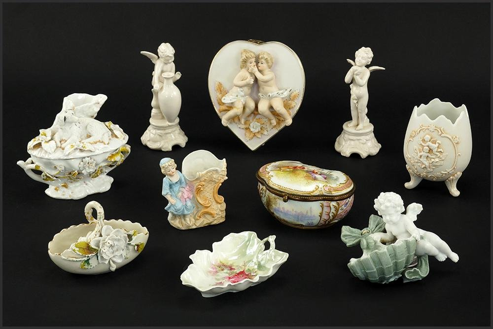 A Collection of Continental Porcelain Items.