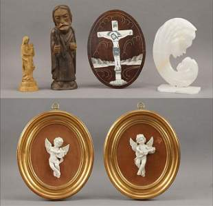 A Collection of Christian Decorative Items