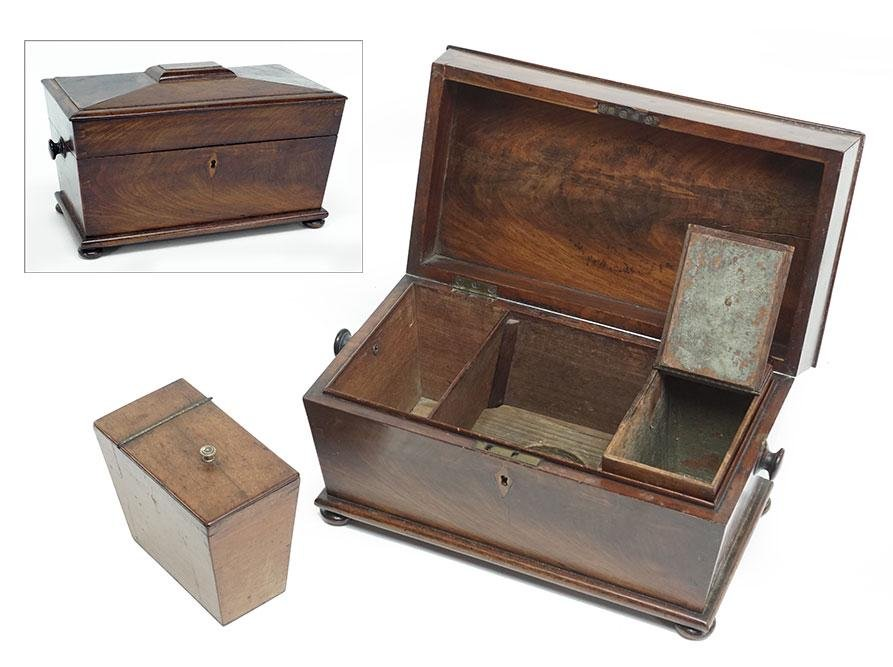 A 19th Century English Tea Caddy.