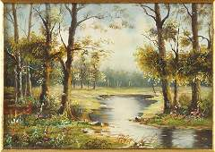 G. Lotner (British, Contemporary) Landscape with