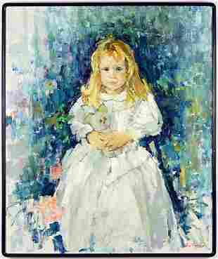 Lies Viegers Dutch Contemporary Girl with Teddy