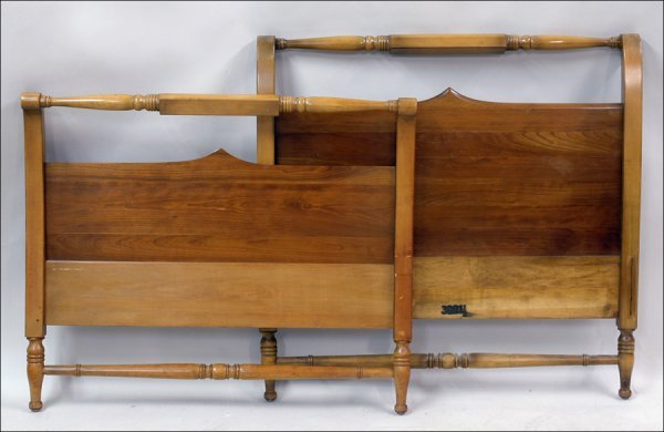 681006: PAIR OF PINE TWIN BEDS.