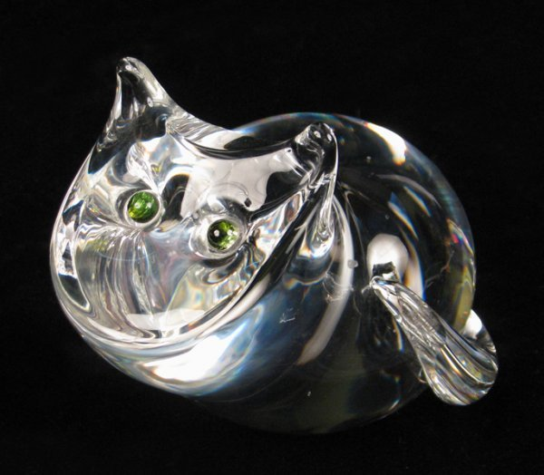 692006: STEUBEN CRYSTAL CAT FIGURE.