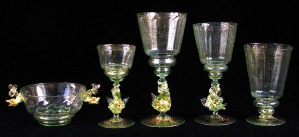 692021: EARLY TWENTIETH-CENTURY VENETIAN GLASS STEMWARE