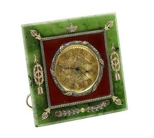 A 20th Century Russian Easel Clock.