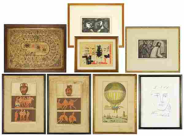A Collection of Framed Items.