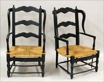701009 PAIR OF FRENCH PROVINCIAL STYLE PAINTED WOOD LA