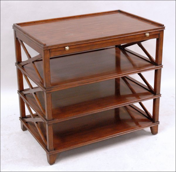 701024: NEOCLASSICAL STYLE MAHOGANY END TABLE.