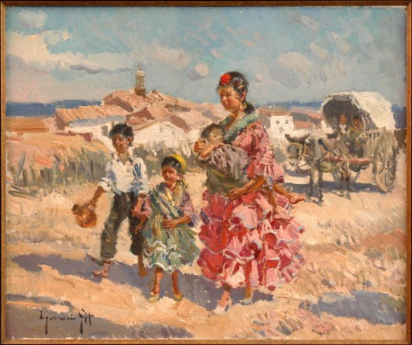 706125: IGNACIO GIL (SPANISH 1913-2003)  MOTHER AND CHI