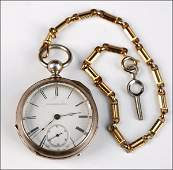 707021 ELGIN NATIONAL WATCH COMPANY POCKET WATCH AND K