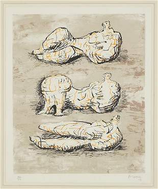 Henry Moore (British, 1898-1986) Three Reclining
