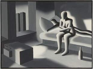 Mark Kostabi (American, B. 1960) Small Screen.