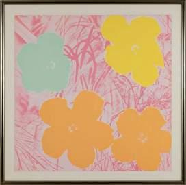 Andy Warhol (American, 1928-1987) Flowers.