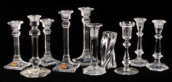 712313: BACCARAT FOR TIFFANY & CO. CRYSTAL CANDLESTICK.