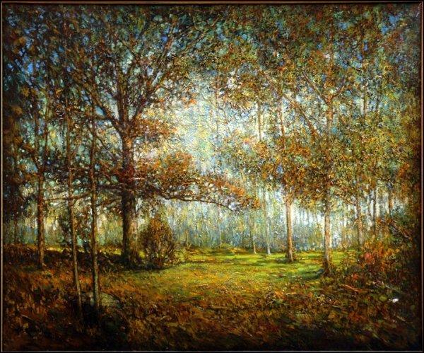 726001: HUDSON MINDELL KITCHELL (1862-1944) WOODED LAND