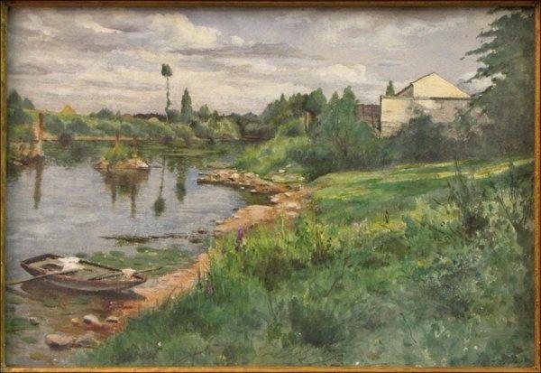 726003: DANIEL RIDGWAY KNIGHT (AMERICAN 1839-1924) SUMM