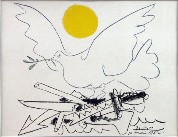 726010: PABLO PICASSO (SPANISH 1881-1973) DOVE OF PEACE