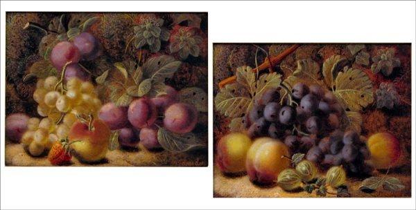 726019: OLIVER CLARE (BRITISH 1853-1927) PAIR OF STILL