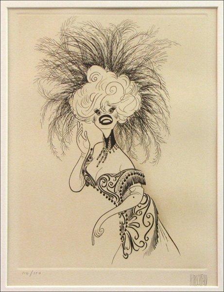726021: AL HIRSCHFELD (AMERICAN 1903-2003) CAROL CHANNI