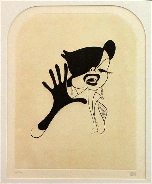 726022: AL HIRSCHFELD (AMERICAN 1903-2003) JUDY GARLAND