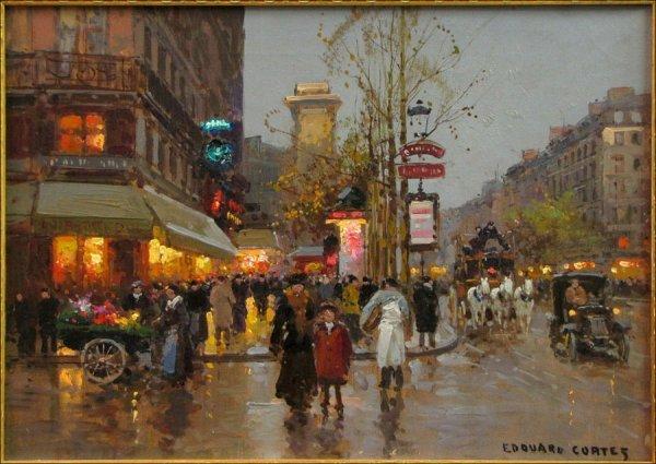 726051: EDOUARD LEON CORTES (FRENCH 1882-1969) PARIS ST