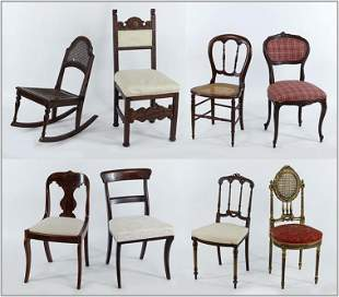 Group of Eight Side Chairs.