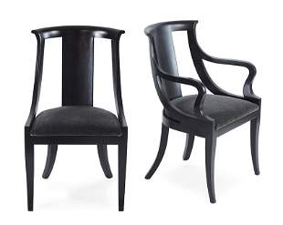 A Set of EIght Baker Style Dining Chairs.
