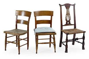 A Pair of Maple Side Chairs.