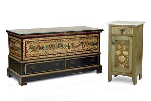 A Continental Style Painted Chest.