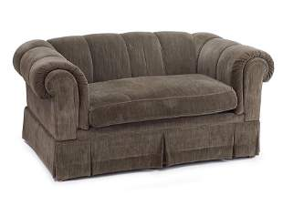 A Smithe Co. Upholstered Love Seat.