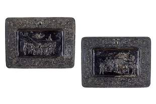 A Pair of Continental Metal Trays.