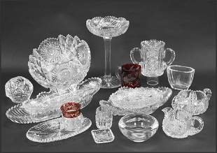 A Collection of Brilliant Cut Glass Table Articles.