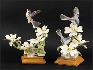 A Pair of Royal Worcester Dorothy Doughty Birds,