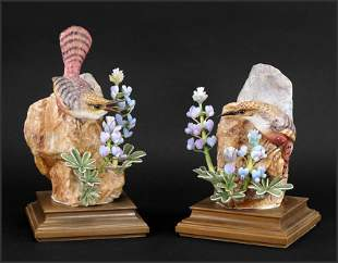 A Pair of Royal Worcester Dorothy Doughty Birds, Canyon