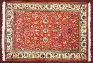 An Indo-Kashan Style Rug.