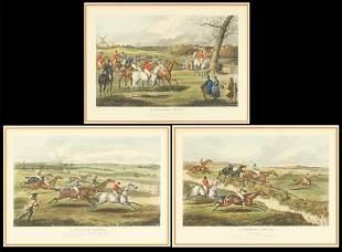 After Henry Alken (British, 1774-1850) A Steeple Chase.