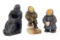 Three Inuit Carvings.