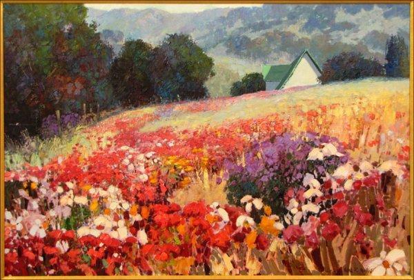 746127: KENT WALLIS (AMERICAN, B.1945) WILD FLOWERS.