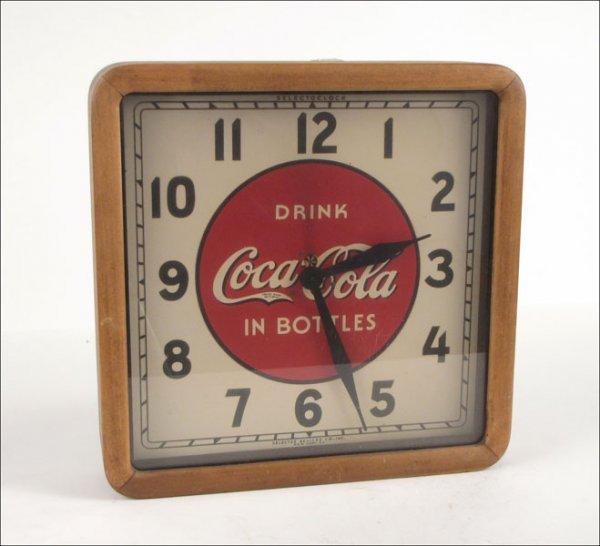 752109: VINTAGE COKE CLOCK.