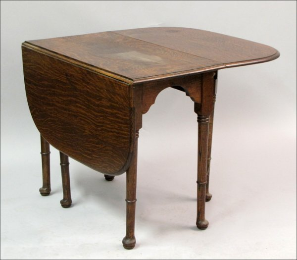 761006: ENGLISH OAK DROP LEAF TABLE.
