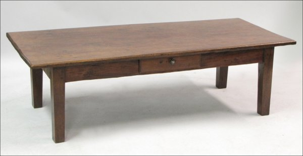761009: 19TH CENTURY FRENCH OAK TABLE.