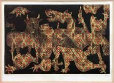766058: ENRICO BAJ (ITALIAN 1924-2003) GUERNICA.