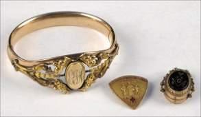 767035 VICTORIAN GOLD FILLED BANGLE BRACELET