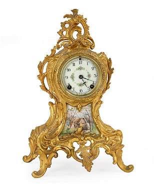 New Haven Gold Gilt Clock.