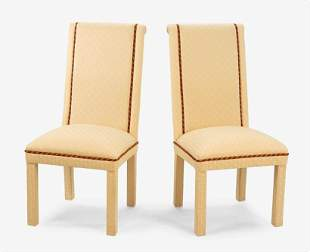 A Set of Ten Parsons Style Dining Chairs.