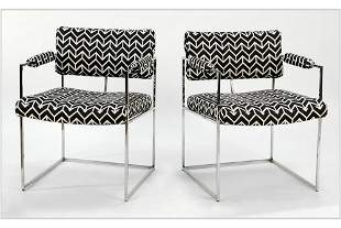 A Set of Four Open Armchairs.