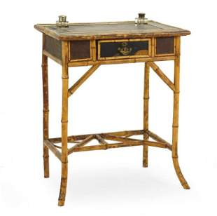 A Victorian Bamboo Writing Table.