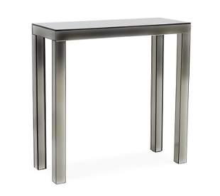 A Contemporary Mirrored Console Table.