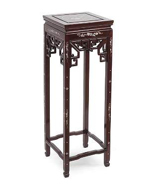 A Chinese Rosewood Pedestal.
